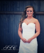 Rustic Bride - at Carleton Farms wedding