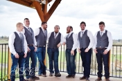 Groomsmen in the Gazebo - at Carleton Farms wedding
