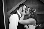 First Kiss - at Carleton Farms wedding