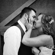 First Kiss - at Carleton Farms wedding